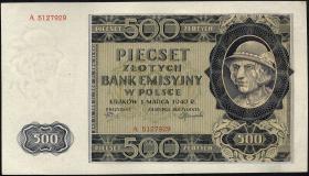 R.578: Generalgouv. Polen 500 Zlotych 1940 (1)