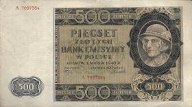 R.578: Generalgouv. Polen 500 Zlotych 1940 (3)