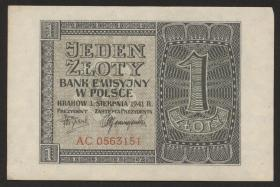 R.579a: 1 Zloty 1941 (1-)
