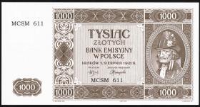 R.583A: 1000 Zlotych 1941 Nachdruck (1)