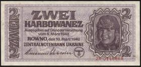 R.592: Besetzung Ukraine 2 Karbowanez 1942 (1-)