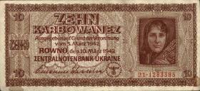 R.594: Besetzung Ukraine 10 Karbowanez 1942 (3)