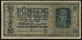 R.596a: Besetzung Ukraine 50 Karbowanez 1942 (4)