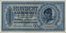 R.597a1: Besetzung Ukraine 100 Karbowanez 1942  (1)