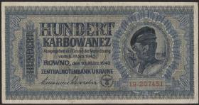R.597a: Besetzung Ukraine 100 Karbowanez 1944 (3)