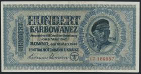 R.597a: Besetzung Ukraine 100 Karbowanez 1942 (1)