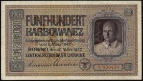 R.599: Besetzung Ukraine 500 Karbowanez 1942 (1-)