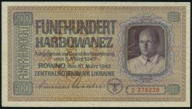 R.599: Besetzung Ukraine 500 Karbowanez 1942 (3+)
