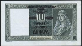R.600: Serbien 10 Dinara 1941 (1-)
