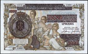 R.602: Serbien 1000 Dinara 1941 (1/1-)