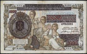 R.602: Serbien 1000 Dinara 1941 (3)