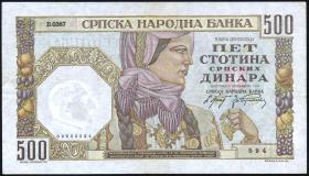 R.605a: Serbien 500 Dinara 1941 (2)