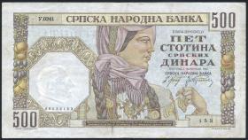 R.605a: Serbien 500 Dinara 1941 (3)