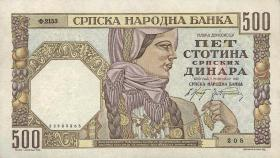 R.605b: Serbien 500 Dinara 1941 (1)
