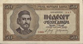 R.607: Serbien 50 Dinara 1942 (3)