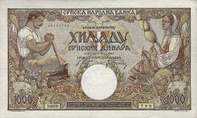 R.610a: Serbien 1000 Dinara 1942 (1)