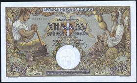 R.610a: Serbien 1000 Dinara 1942 (1-)
