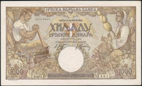 R.610b: Serbien 1000 Dinara 1942 (1/1-)