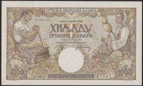 R.610b: Serbien 1000 Dinara 1942 (1)