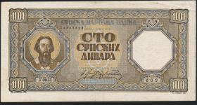 R.611: Serbien 100 Dinara 1943 (3)