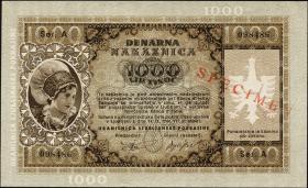 R.615M2: Laibach 1000 Lire 1944 Specimen (1)