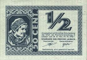 R.617: Provinz Laibach 1/2 Lira 1944 (1)