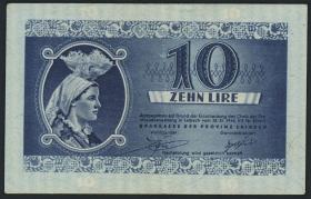 R.621: Laibach 10 Lire 1944 (3+)