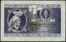 R.621: Laibach 10 Lire 1944 (4-)