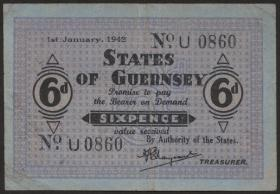 R.643: Guernsey 6 Pence 1942 (3)
