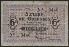 R.643: Guernsey 6 Pence 1942 (4)