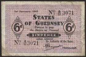 R.649: Guernsey 6 Pence 1943 (4)