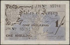 R.657d: Jersey 1 Shilling 5-stellig (3+)