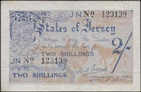 R.658b: Jersey 2 Shillings 6-stellig (3+)