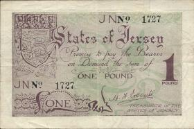 R.661c: Jersey 1 Pound 4-stellig (3+)