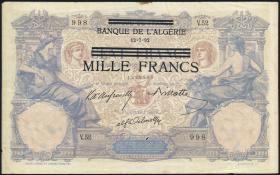 R.668: Besetzung Tunesien 1000 Francs o.J. (4)