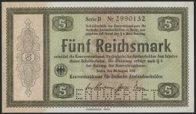 R.700E1: Konversionskasse 5 Reichsmark 1933 (1-)