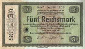R.700F: Konversionskasse 5 Reichsmark 1933 Variante (1)
