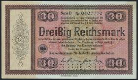 R.702E1: Konversionskasse 30 Reichsmark 1933 (1-)