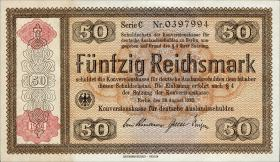 R.712b: Konversionskasse 50 Reichsmark 1934 (1/1-)