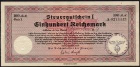 R.716a: Steuergutschein 100 Reichsmark 1939 mit Behördenstempel (2)