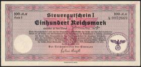 R.716b: Steuergutschein 100 Reichsmark 1939 mit Stempel (2)