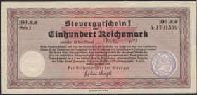 """R.716f: Steuergutschein 100 Reichsmark 1939 (Mai 1940) mit Stempel """"Essen"""" (2)"""