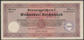 """R.716f: Steuergutschein 100 Reichsmark 1939 (Mai 1940) mit Stempel """"Oppeln"""" (2)"""