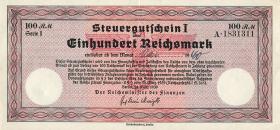 R.716: Steuergutschein 100 Reichsmark 1939 ohne Stempel (2)