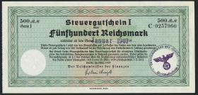 R.718b: Steuergutschein 500 Reichsmark 1939 (2)