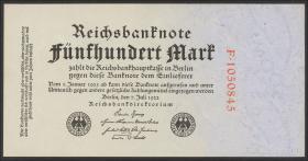 R.71a: 500 Mark 1922 KN rot (2+)