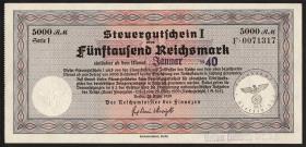 R.721b Steuergutschein 5000 Reichsmark 1939 (Januar 1940) (2)