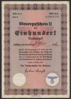 R.723e: Steuergutschein 100 Reichsmark 1939 September 1942 (2-)