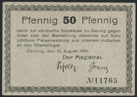 R.780a: Danzig 50 Pfennig 1914 (3+)
