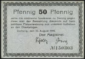 R.780d: Danzig 50 Pfennig 1914 (1/1-)